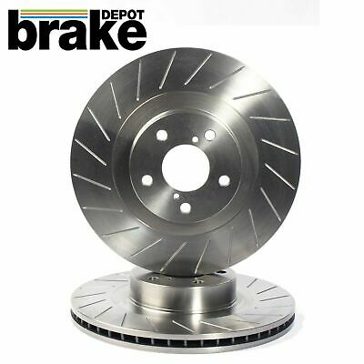 BMW E36 Saloon 320i 96-98 Front Brake Discs Drilled Grooved Mtec Gold Edition