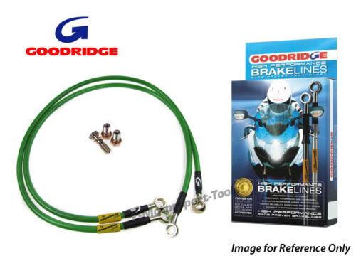 L11 09-11 Race Front Braided Brake Lines Hose Goodridge For Suzuki GSXR1000 K9