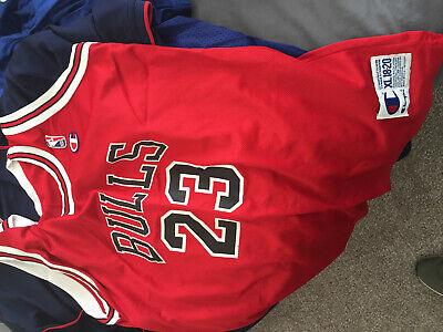 hot sale online a896c 640c3 Chicago Bulls champion red Michael Jordan basketball jersey Nike youth XL |  eBay