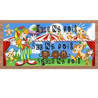 Family Wood Signs - Hear No Evil See No Evil Speak No Evil -gs 2124