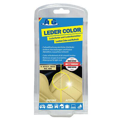 """Pintura Restauración Cuero Colorante ATG Tinte Cuero BEIGE /""""Leder Color/"""""""