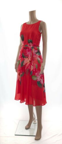 Print Occasion amp; Floral Fit Flare Tea Ex Monsoon Versatile Midi Dress Red YqCRnv