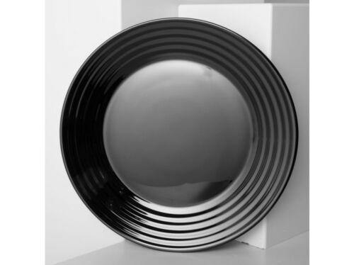 Tafelset Service Luminarc Harena Set Teller Schüssel schwarz weiß modern