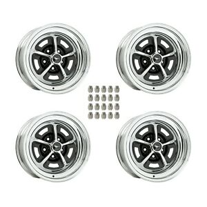 Magnum-500-Wheels-Kit-with-Mustang-Wheel-Caps-and-Lug-Nuts-15-034-X7-034-and-15-034-x8-034