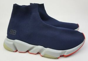 3f1d26c639 Balenciaga Blue Speed High Slip-On Trainer Men s Shoes Sneakers Size ...