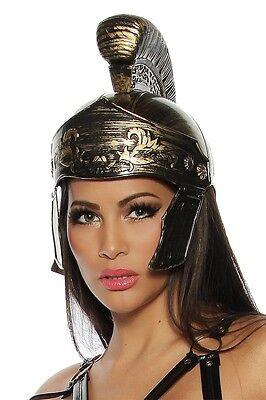 Römerhelm Gladiator Helm Krieger Gladiatorenhelm Karneval Fasching schwarz/gold