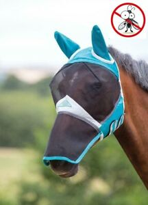 Shires-Mesh-Fly-Mask-Full-Face-With-Ears-amp-Nose-amp-Eye-Darts-UV-Sun-Protection