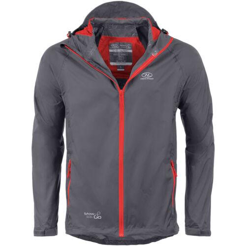 Highlander Stow /& Go Packaway Hooded Mens Jacket Waterproof Windproof Charcoal