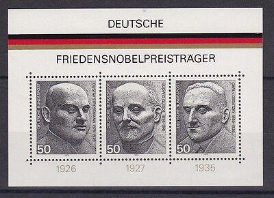 Brd 1975 Postfrisch Minr. Block 11 Friedens Nobelpreis Träger