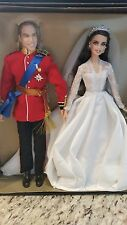 NRFB Royal wedding William & Catherine Barbie & Ken Dolls Gold Label Gifset