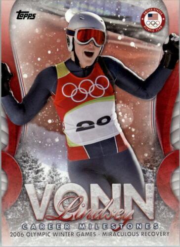 Olympic Team Lindsey Vonn Career Milestones Sports Card Pick 2018 Topps U.S