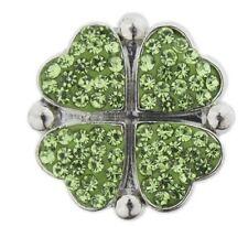 Snap button Four leaf clover18mm Cabochon chunk charm