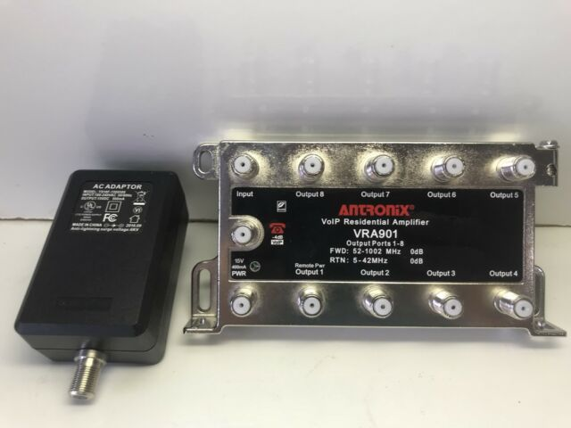 Antronix VoIP Coaxial Amplifier With AC Adapter