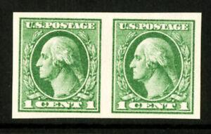 US-Stamps-531-1c-Washington-SUPERB-OG-NH-Choice-Pair