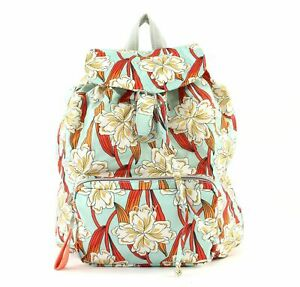 Pflichtbewusst Oilily Enjoy Ornament Backpack Lvf Rucksack Tasche Light Turquoise Blau Weiß Neu Rucksäcke Kleidung & Accessoires
