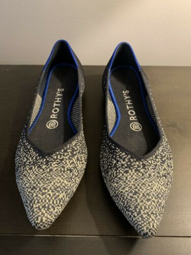 Rothy's Slate Metallic Point Size 8 Preowned - gre