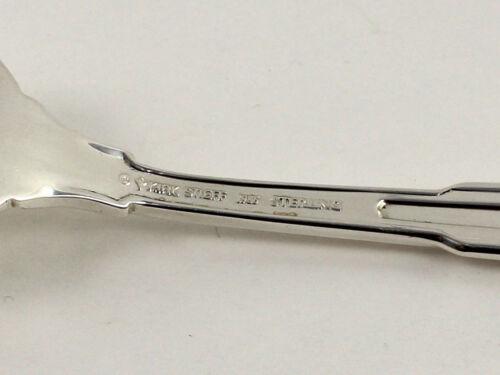 "No Monograms - 6 5//8/"" s Kirk Paramount Sterling Silver Salad Fork"