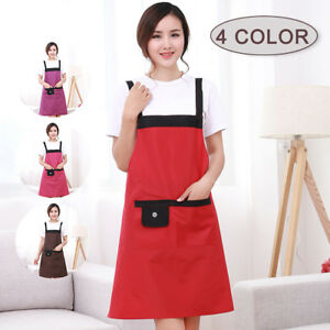 Am-KF-Waterproof-Sleeveless-Home-Restaurant-Cooking-Bib-Apron-Pocket-Cover-Lat