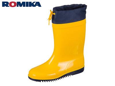 Kinder Romika Gummistiefel gelb 27 28 29 30 31 32 33 34 35 Regenstiefel original