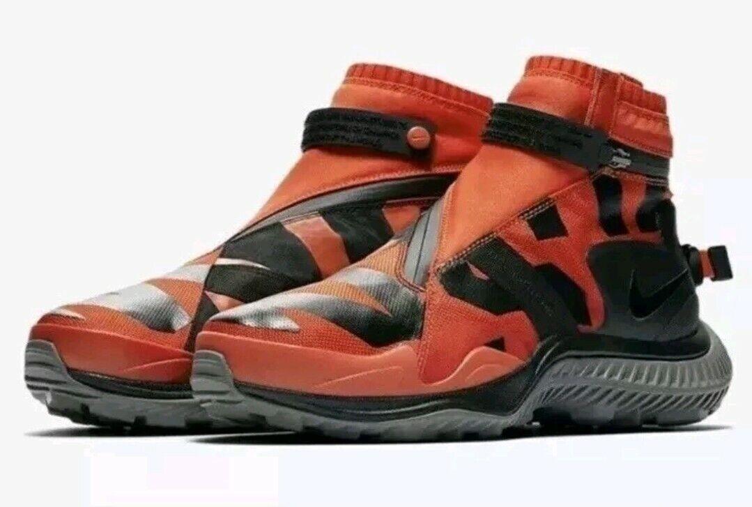 New Men's Nike NikeLab NSW Gaiter Boots Size 8.5 Team orange Black AA0530-800