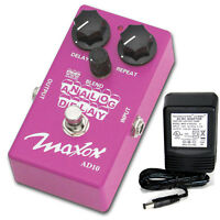 Maxon Compact Series Ad10 Analog Delay W/ 9v Power Supply Free Shipping