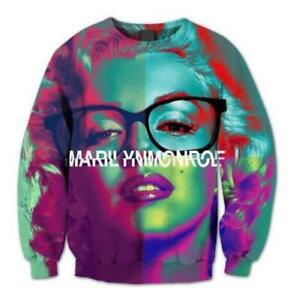 1d3b8b43aa2f Dream Lover Casual Marilyn Monroe 3D Print Hoodies Jacket Pullover ...