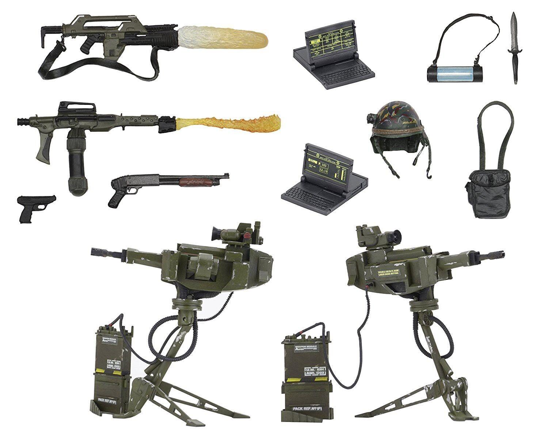 Pack Pack Pack Box ARMI ACCESSORI Soldati Marines USCM Figure Action ALIEN Protator NECA 348e0d