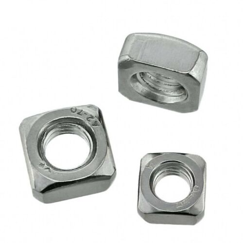 Square Nuts Machine Screw Nut 201//304 Stainless Steel M3 M4 M5 M6 M8 M10