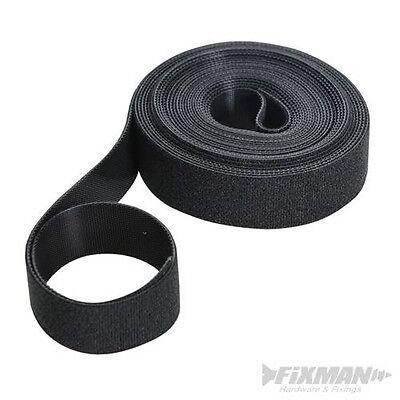 5m Klettband Schwarz 25mm Doppelseitiges Klettband Aus 100 % Nylon. Knitterfestigkeit