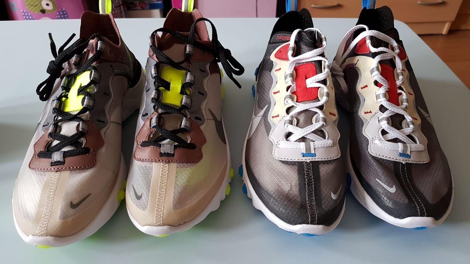 Nike React Element 87 Desert Sand Green6.5 Beige Green6.5 Sand cacca3