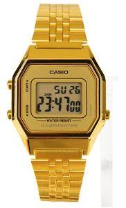 Casio-LA680WGA-9D-Ladies-Mid-Size-Gold-Tone-Digital-Retro-Vintage-Watch-NEW