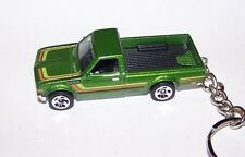 CUSTOM MADE..1972 DATSUN 620 PICKUP (GREEN/BLACK)  KEYCHAIN..GREAT GIFT!