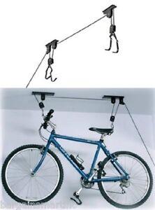 New-Bike-Bicycle-Lift-Ceiling-Mounted-Hoist-Storage-Garage-Hanger-Pulley-Rack