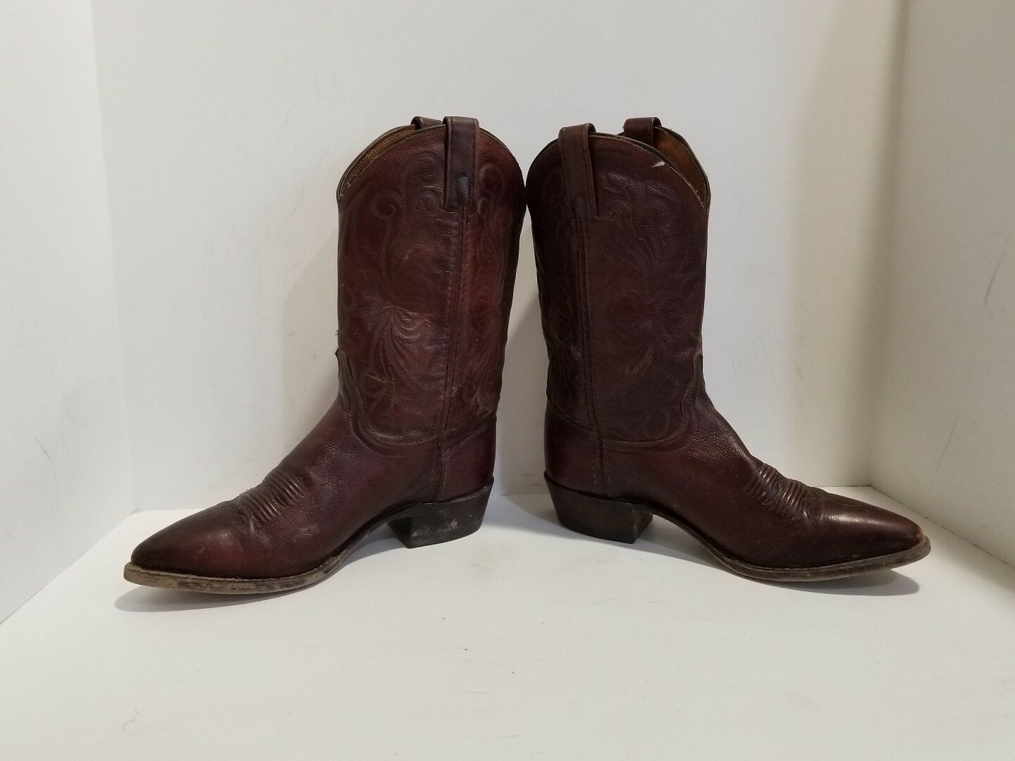 Dan Post Wmens Brown Leather Western Boots Size 7.5 M