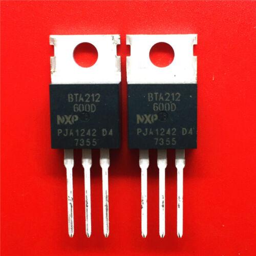 BTA212-600B 10PCS 600 V 12 A 50 mA TO220AB Nuevo