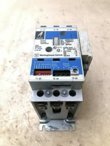 Advantage A.H17 W200M1CFC NEMA 1 Non-Reversing Magnetic Motor Starter 27A 3PH