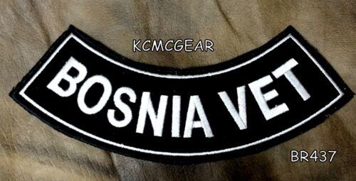 BOSNIA VET Bottom Rocker for Biker Motorcycle Vest Jacket Back Patch BR437