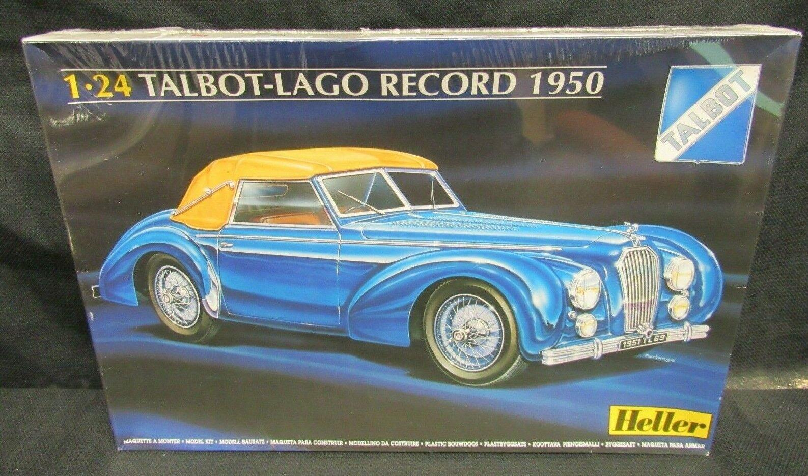 Talbot Lago GP Car Grand Prix Auto 1:24 Model Kit Bausatz Heller 80721