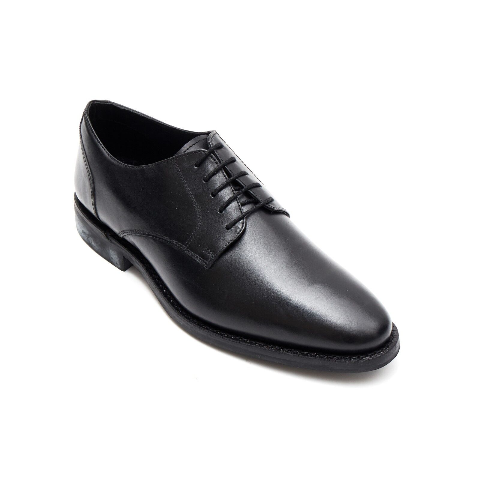 Lucini Derby Goodyear Welted Dainite Sole Black Real Leather