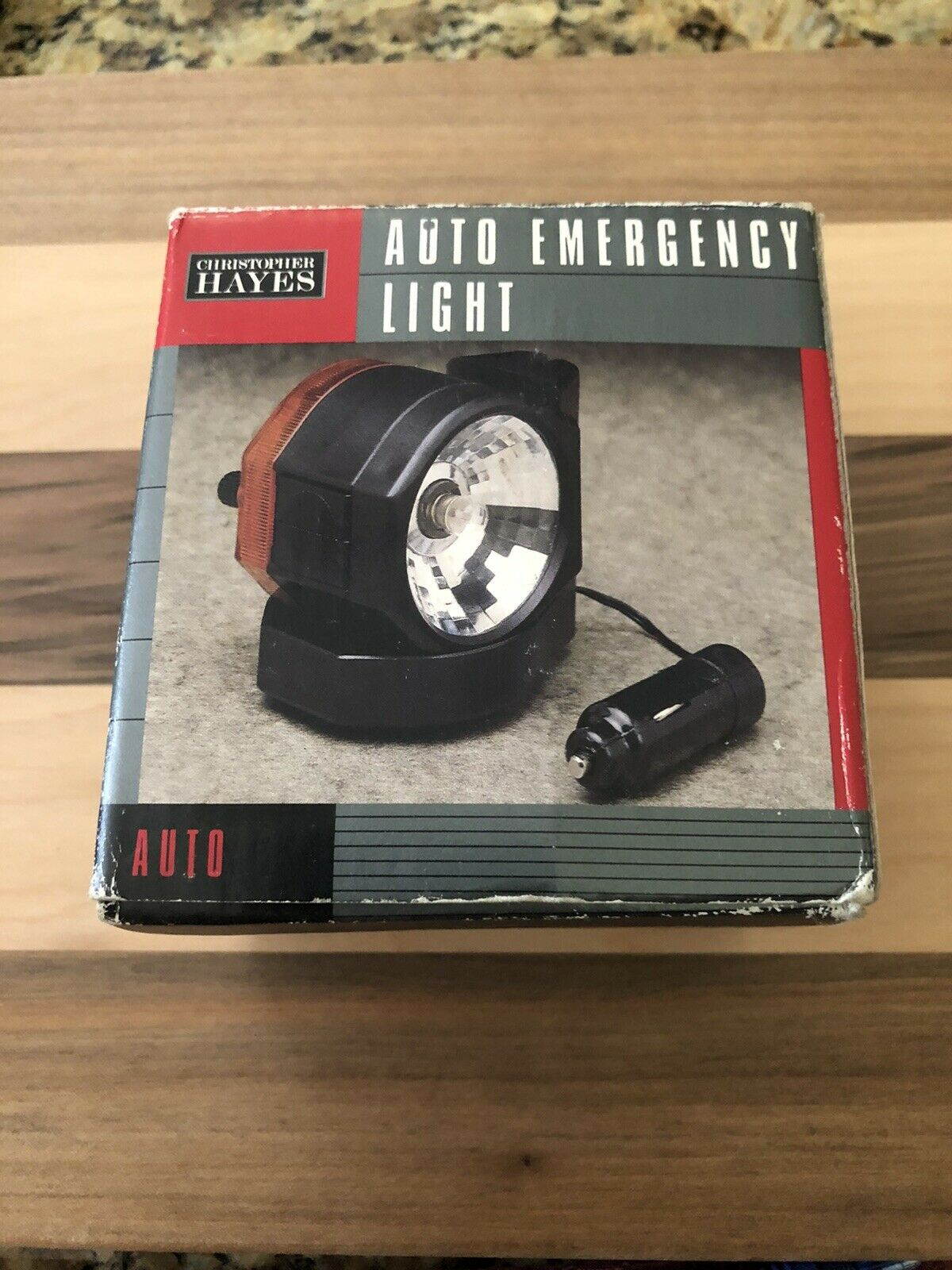 Auto Emergency Light - Mfr. Christopher Hayes - Old New Stock
