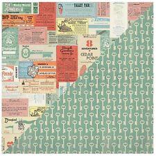 """12x12/"""" D//cara de papel Authentique pasatiempo #7 imagen Mapa//Cobblestones"""