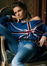 DENNY ROSE MAGLIA blusa art. 8360 bandiera inglese paillettes rara introvabile