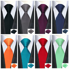Classic Men's Tie Necktie Solids Plain 99 Colors Jacquard Woven 100% Silk
