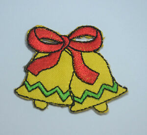 JINGLE-BELLS-XMAS-CHRISTMAS-Embroidered-Iron-Sew-On-Cloth-Patch-Badge-APPLIQUE