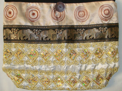 many Colours made in Thailand! Thai Hobo Bag with Sequins /& Elephants Style U