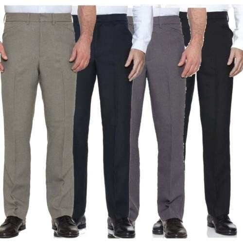 New Mens Farah Hopsack Straight Leg Vintage Trousers Black Grey Brown BNWT