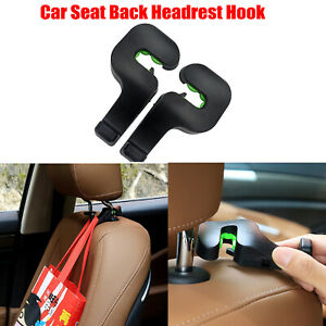 1× Car Seat Headrest Bar Hook Bag Hanger Bag Organizer Holder Clip Accessories