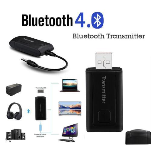 Bluetooth V4.1 Transmitter /& Receiver Wireless A2DP Audio 3.5mm Aux Adapter USA