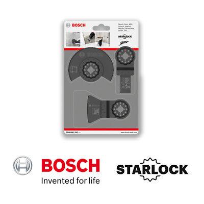 Bosch Starlock 3 Piece Multi Tool Set.Starlock 3 Piece Set 2607017323