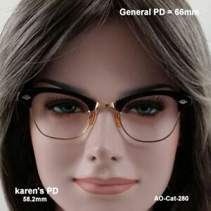 AO-Leading-Lady-NOS-Cat-Eye-12K-Gold-Fill-True-Antique-Eyeglasses-amp-Case